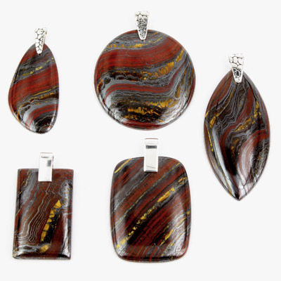 tiger iron and sterling silver pendants wholesale buy
